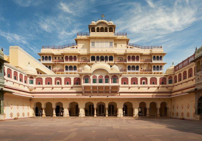 Mubarak Mahal en el palacio de la ciudad de Jaipur, Rajasthán, la India imagenes de archivo