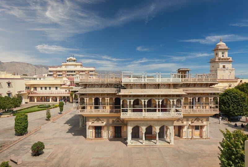 Mubarak Mahal i den Jaipur stadsslotten, Rajasthan, Indien royaltyfri bild