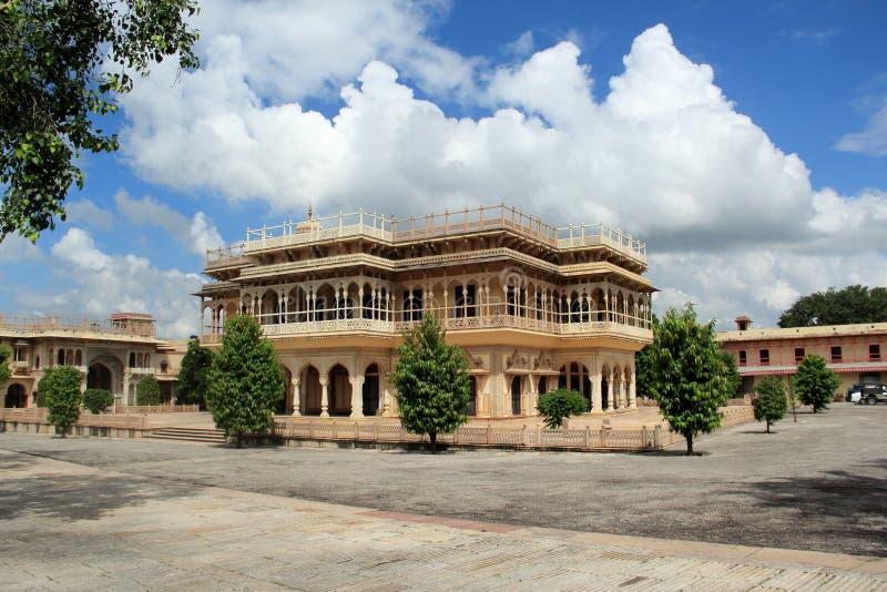 Mubarak Mahal.Jaipure. royaltyfria bilder
