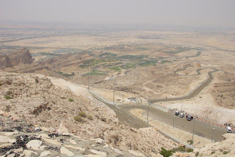 Mubazarrah verde da Jabal Hafeet fotografia stock