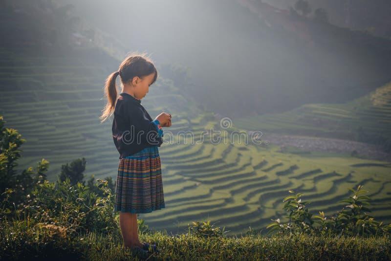 MUCANGCHAI,越南, 2017年9月22日:未定义越南语H 免版税库存照片