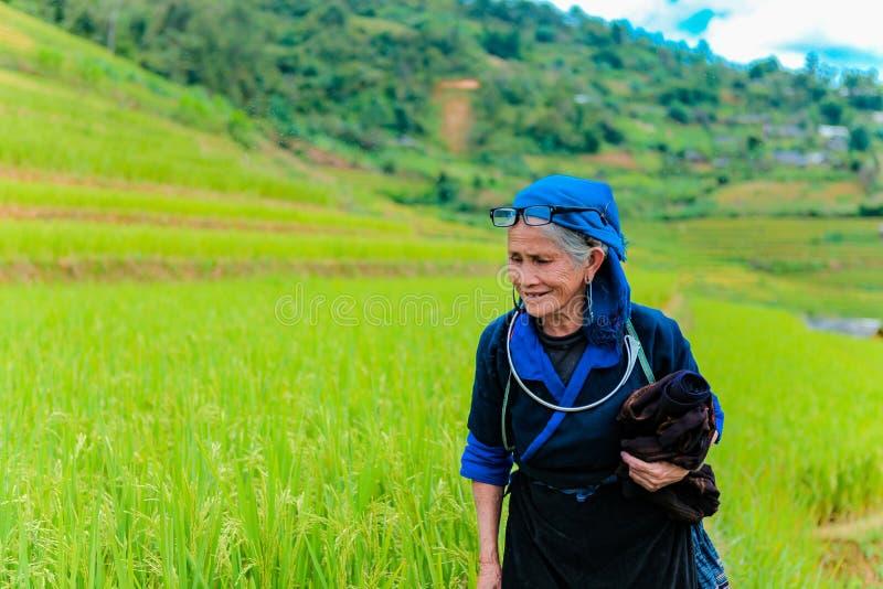 MUCANGCHAI, VIETNAM, September 29, 2018: Hmong ethnic minority women in Mu Cang Chai, Yen Bai. MUCANGCHAI, VIETNAM, September 29, 2018: Hmong ethnic minority stock photography