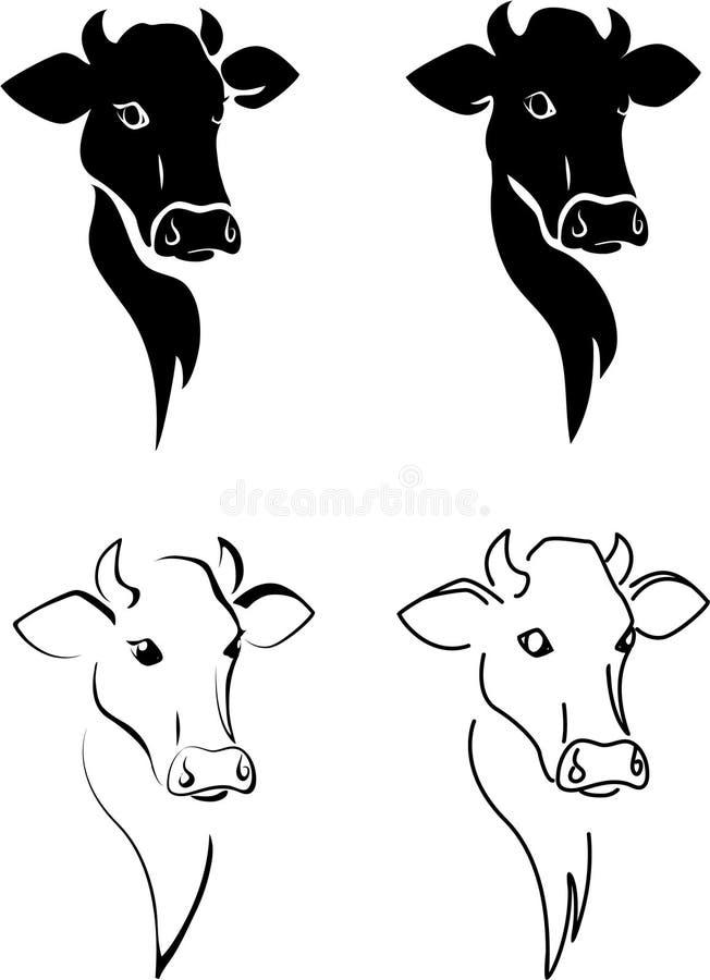 Mucca. illustrazione di stock