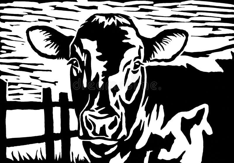 mucca illustrazione di stock