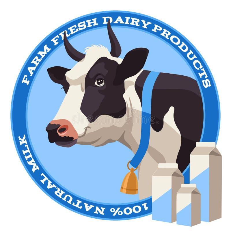 Mucca e latte illustrazione vettoriale