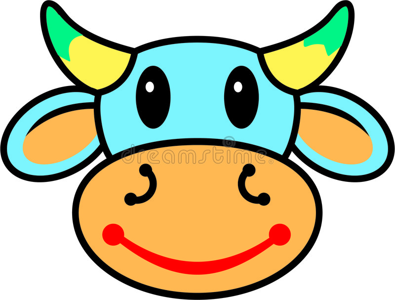 Mucca felice immagini stock libere da diritti