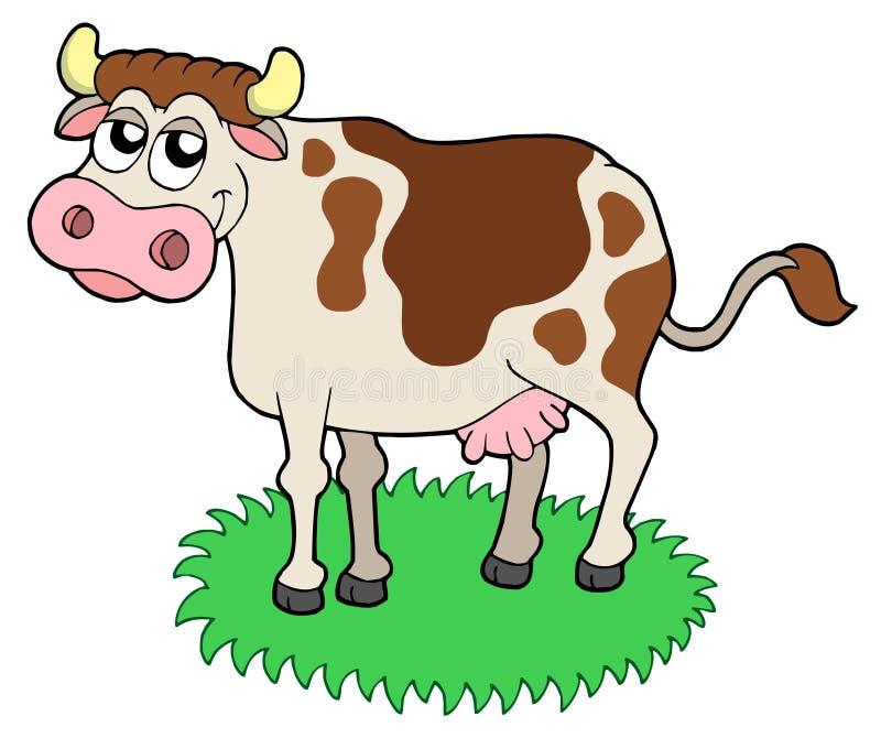 Mucca sveglia illustrazione vettoriale