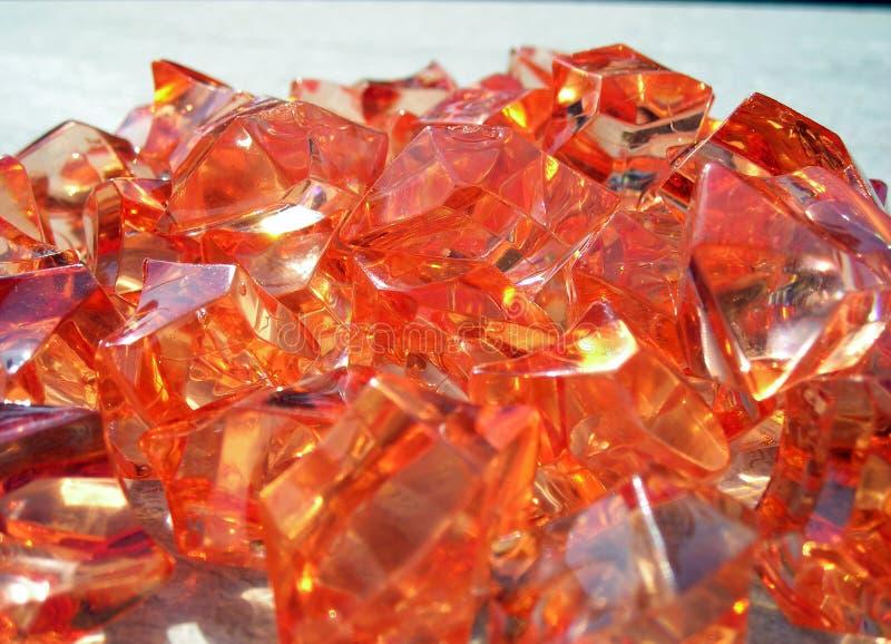 Mucchio arancione delle pietre fotografie stock