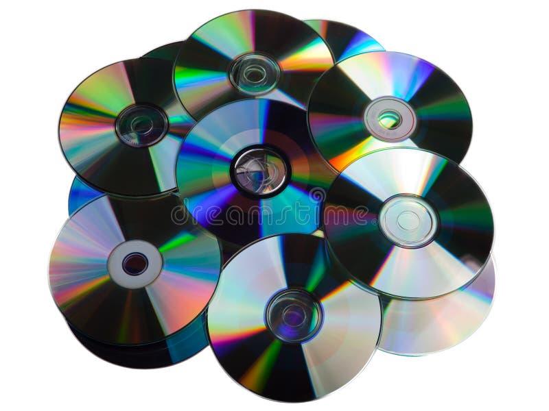 Mucchio CD del disco di DVD immagine stock libera da diritti
