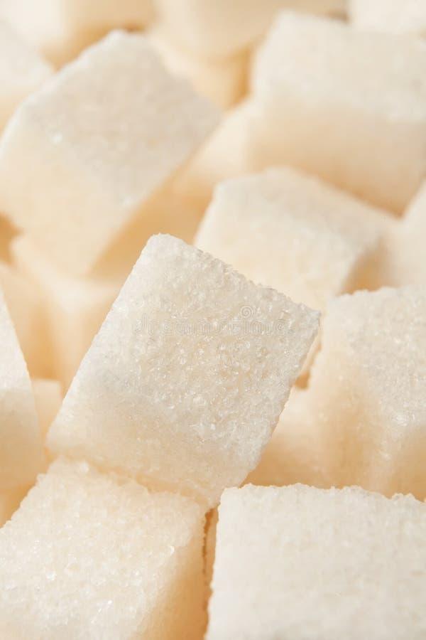 Mucchio cubico dello zucchero immagini stock libere da diritti