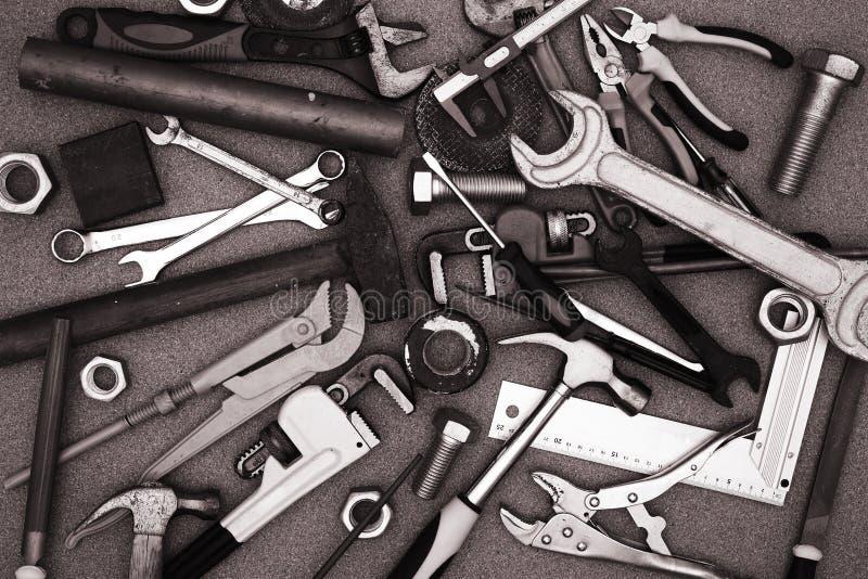Mucchio degli attrezzi per bricolage fotografie stock