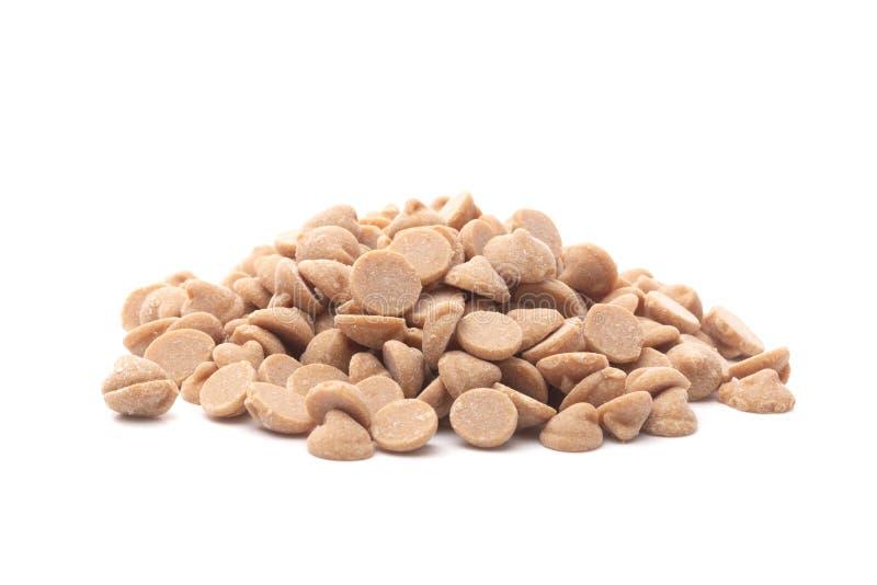 Mucchio dei chip gastronomici di cottura del burro di arachidi immagini stock