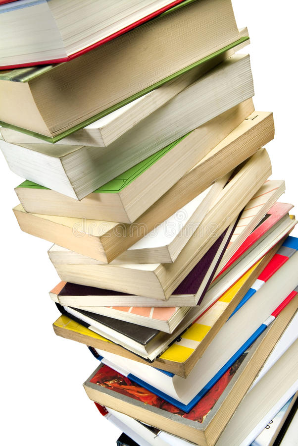 Mucchio dei libri immagini stock
