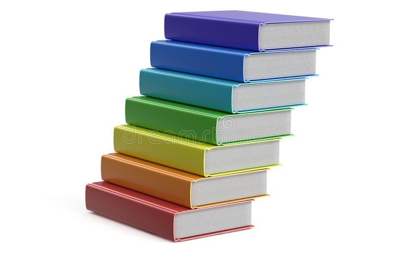 Mucchio dei libri multicolori royalty illustrazione gratis
