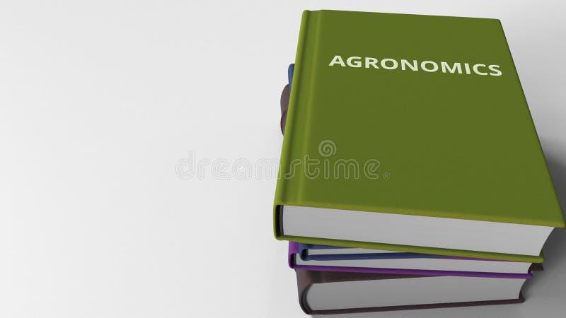 Mucchio dei libri su AGRONOMIA, rappresentazione 3D illustrazione vettoriale
