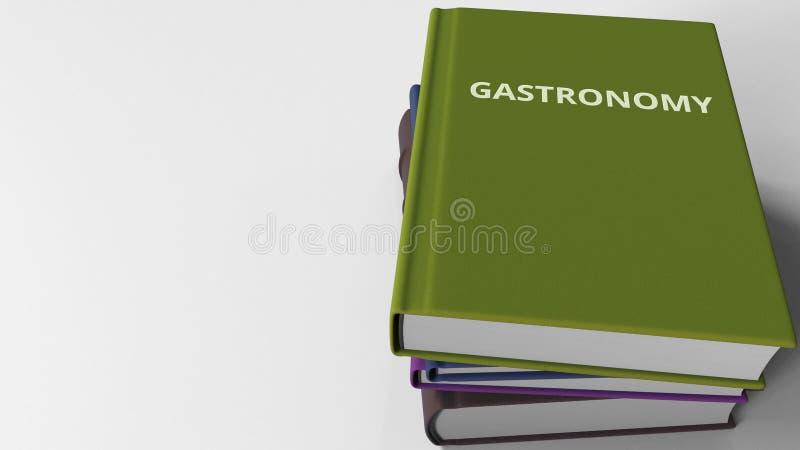 Mucchio dei libri su GASTRONOMIE, rappresentazione 3D illustrazione vettoriale