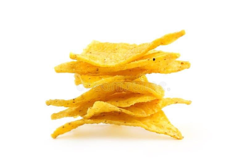 Mucchio dei nacho fotografia stock libera da diritti