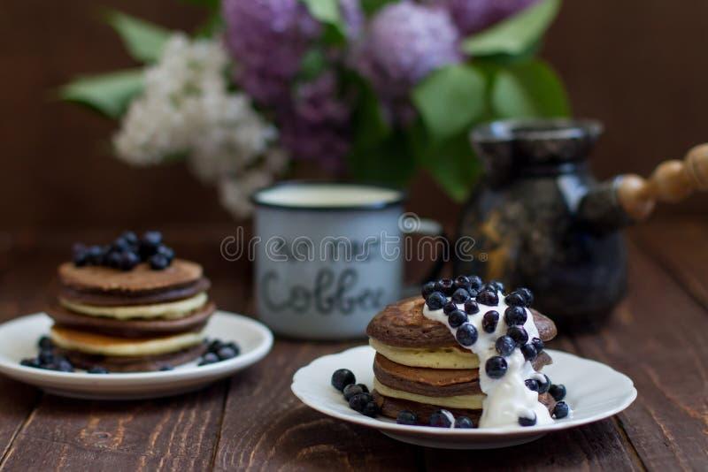 Mucchio dei pancake fotografia stock