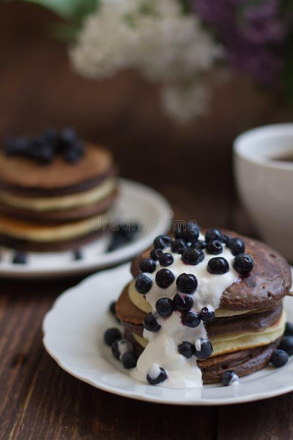 Mucchio dei pancake fotografie stock