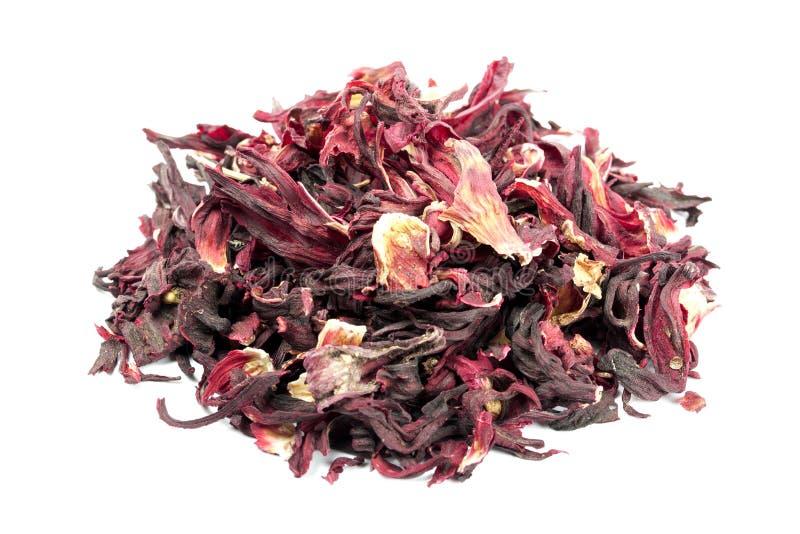 Mucchio dei petali secchi degli ibischi immagine stock