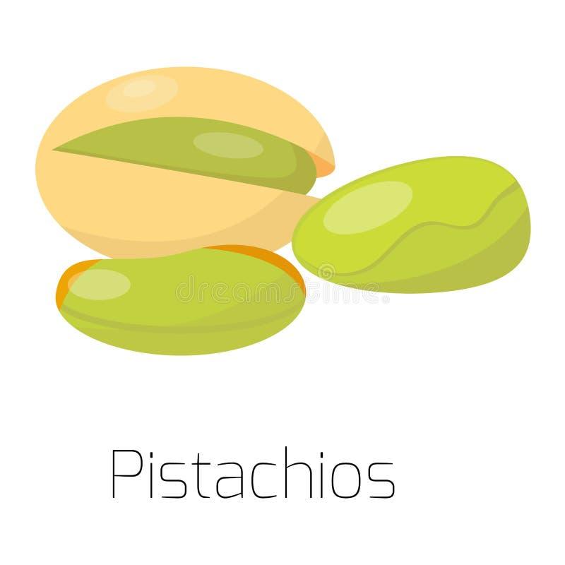 Mucchio dei pistacchi matti dell'illustrazione di vettore royalty illustrazione gratis