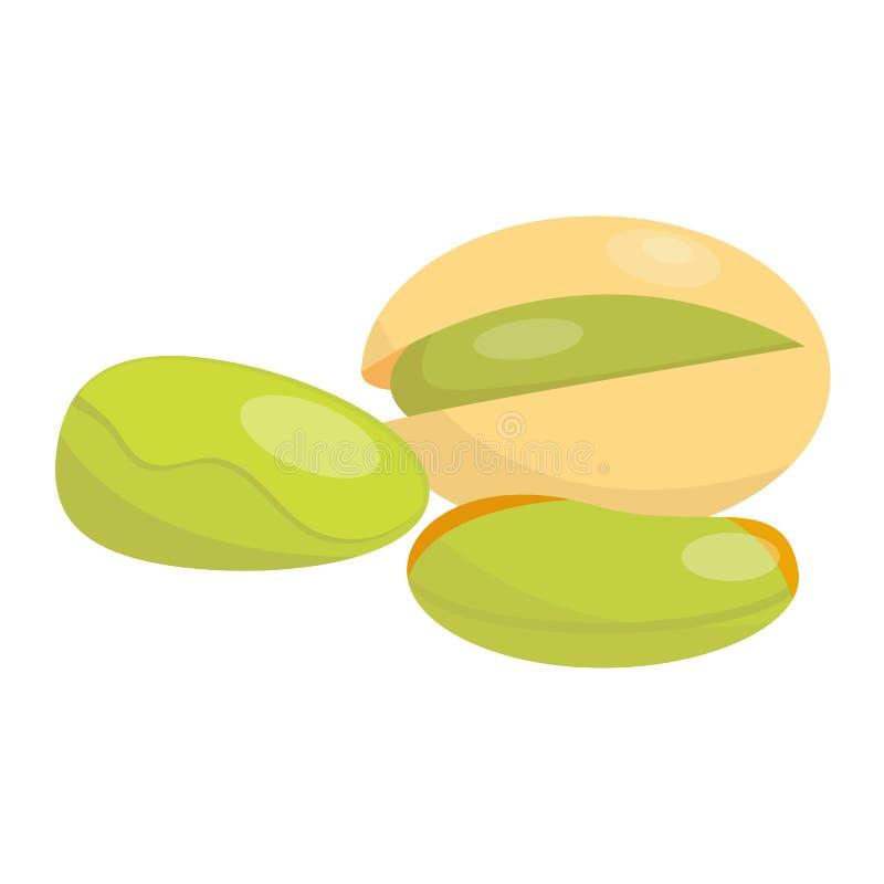 Mucchio dei pistacchi matti dell'illustrazione di vettore illustrazione di stock