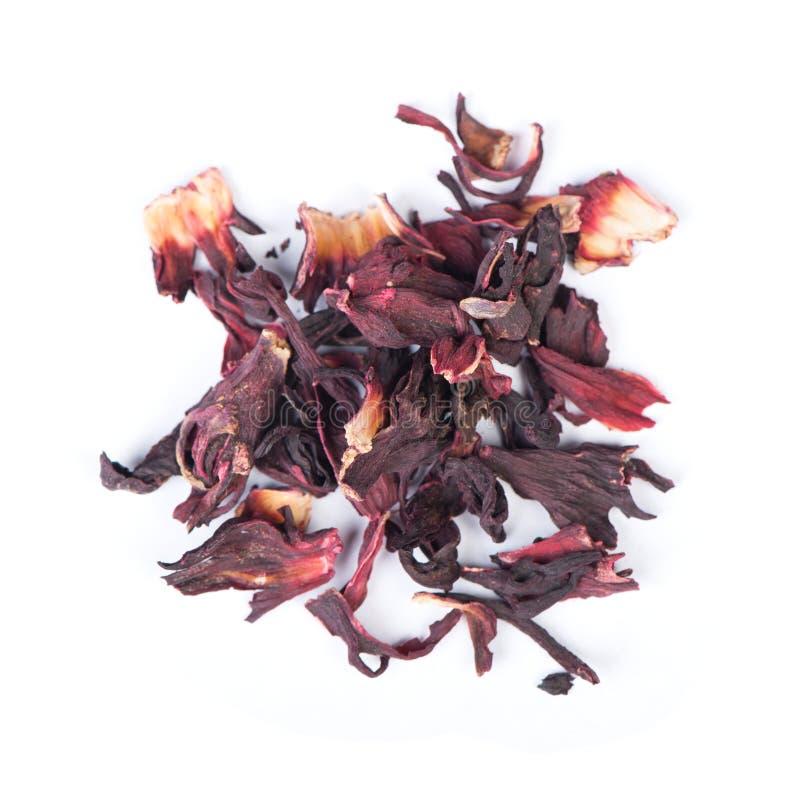 Mucchio del carcade secco del tè del fiore di rosella immagine stock libera da diritti