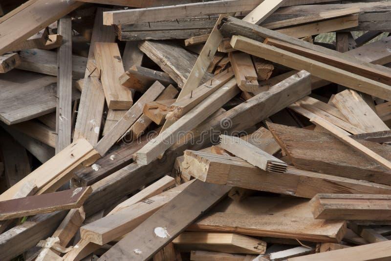 Mucchio del legname del residuo fotografia stock libera da diritti