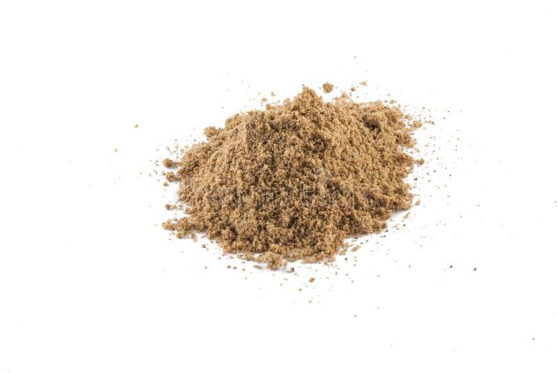 Mucchio della farina della noce di cocco di Brown immagine stock