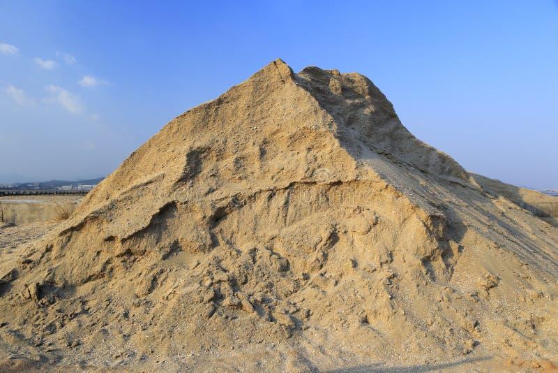 Mucchio della sabbia per costruzioni fotografia stock