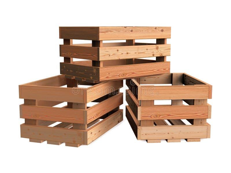 Mucchio delle casse di legno immagine stock libera da diritti