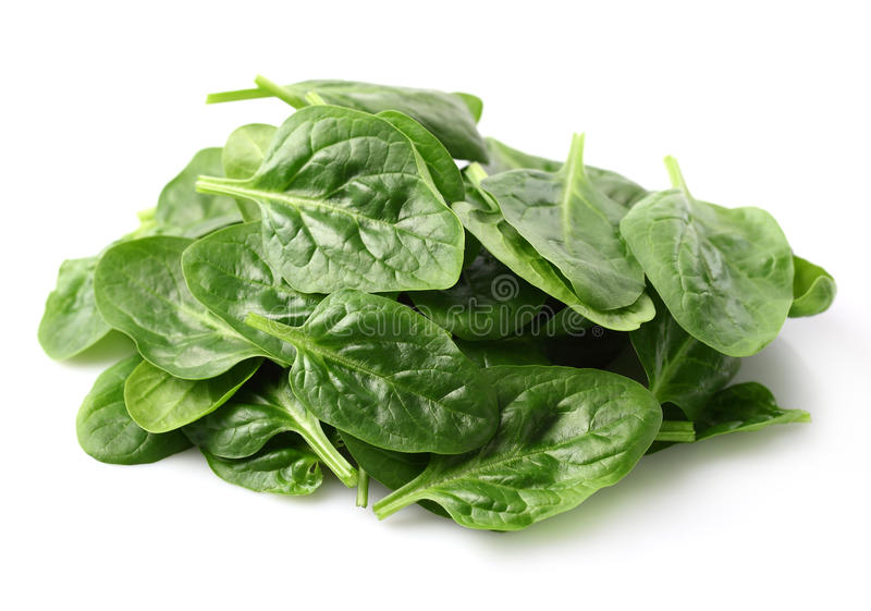Mucchio delle foglie degli spinaci fotografia stock