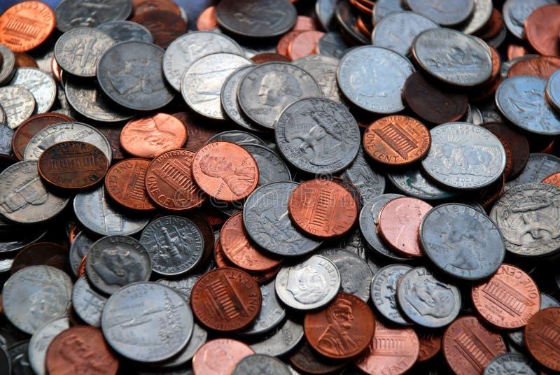 Mucchio Delle Monete Assortite Degli Stati Uniti Fotografie Stock Gratis