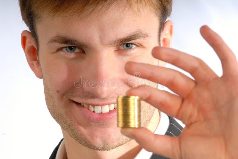 Mucchio delle monete a disposizione immagini stock libere da diritti