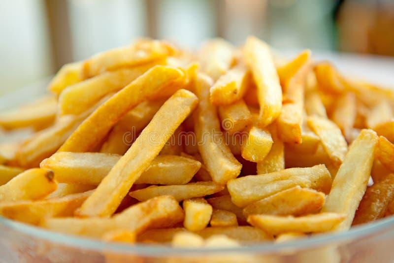 Mucchio delle patate fritte cotte fotografia stock libera da diritti