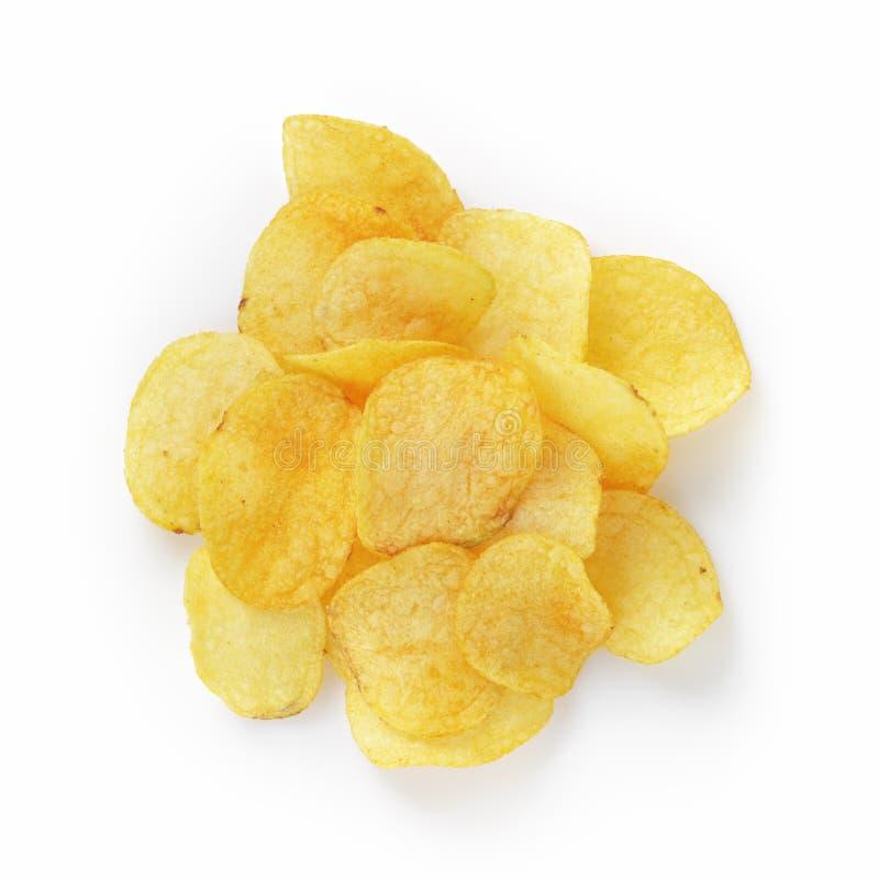 Mucchio delle patatine fritte con paprica fotografia stock libera da diritti