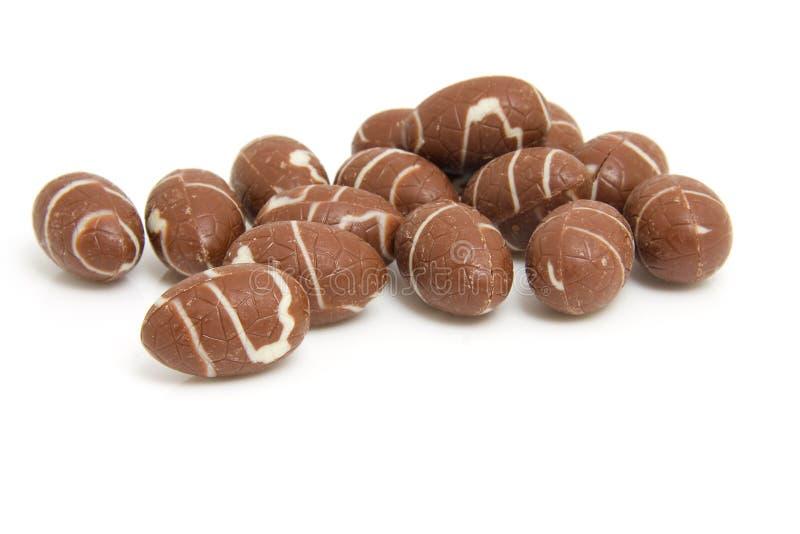 Mucchio delle uova di Pasqua del cioccolato fotografia stock