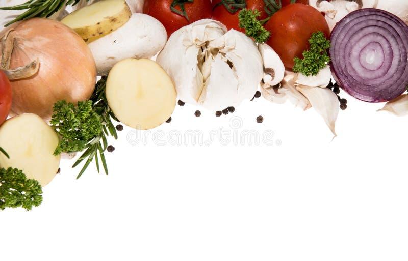 Mucchio delle verdure isolate su bianco fotografia stock
