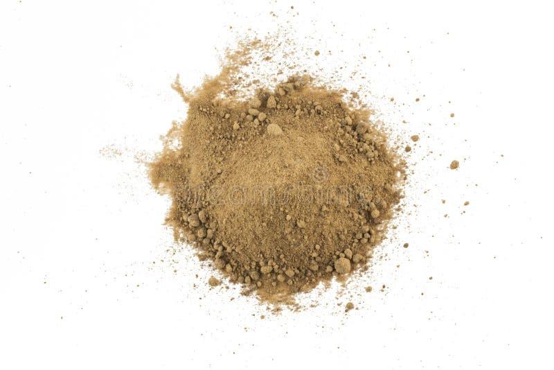 Mucchio dello zucchero bruno di Mascavo fotografia stock libera da diritti