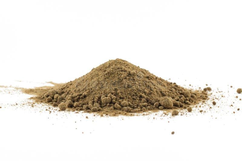 Mucchio dello zucchero bruno di Mascavo immagine stock libera da diritti
