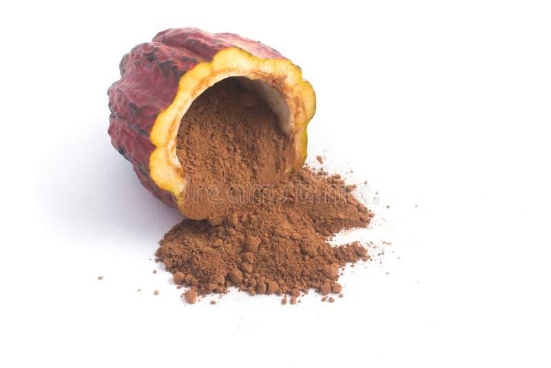Mucchio di cacao in polvere immagini stock