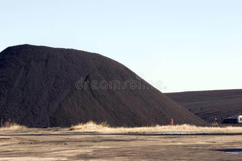 Mucchio di carbone per la centrale elettrica fotografie stock libere da diritti