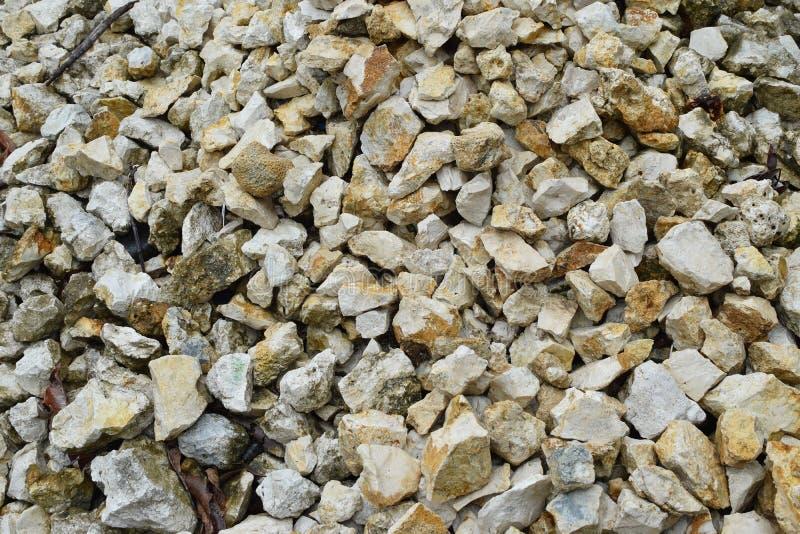 Mucchio di Chips Pebbles For Landscaping di marmo schiacciato, struttura, fondo immagini stock libere da diritti