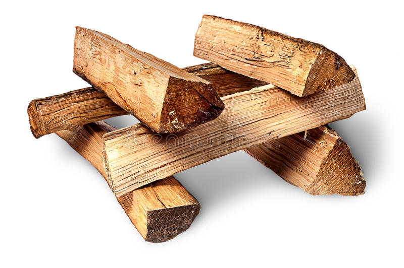 Mucchio di legna da ardere impilato ad a vicenda fotografia stock libera da diritti