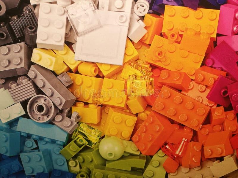 Mucchio di Legos fotografie stock libere da diritti