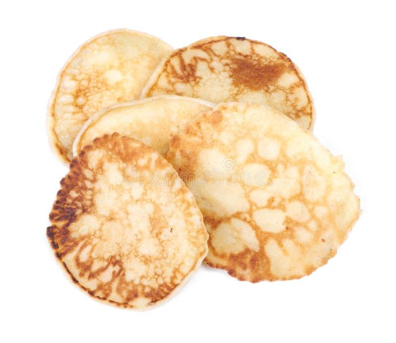 Mucchio di piccoli pancake immagine stock