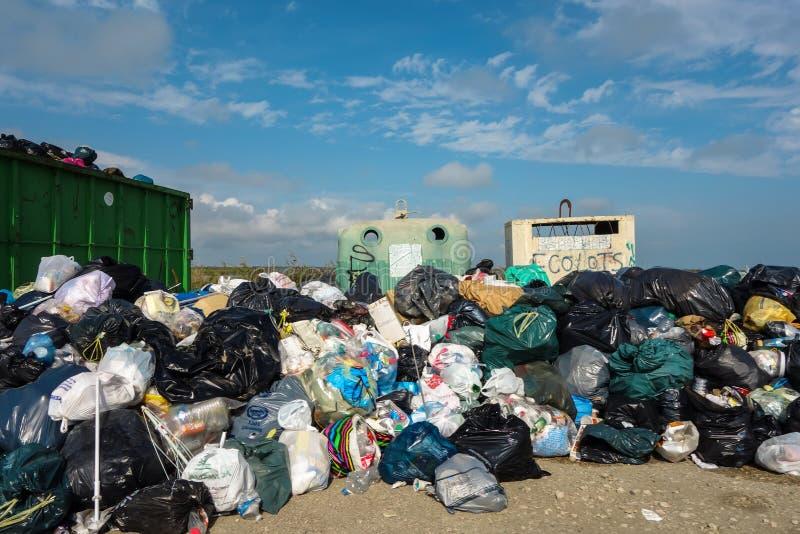 Mucchio di rifiuti fotografie stock libere da diritti