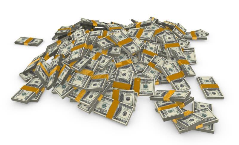 Mucchio di soldi illustrazione di stock