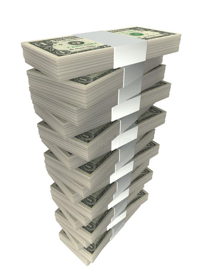 Mucchio di soldi illustrazione vettoriale