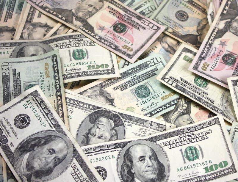 Mucchio di soldi americani fotografia stock libera da diritti